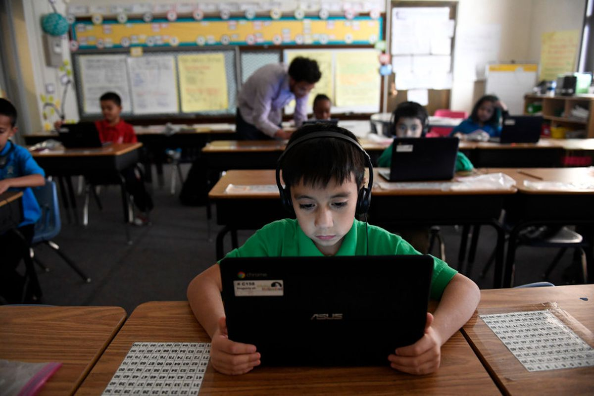 A student takes part in an after-school program at Ashley Elementary School in Denver last spring. (Photo by Helen H. Richardson/The Denver Post).
