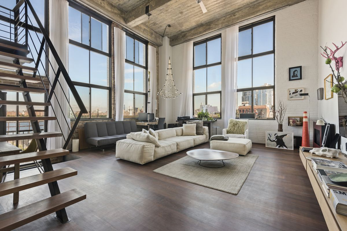 Industrial-chic Williamsburg loft in a converted factory
