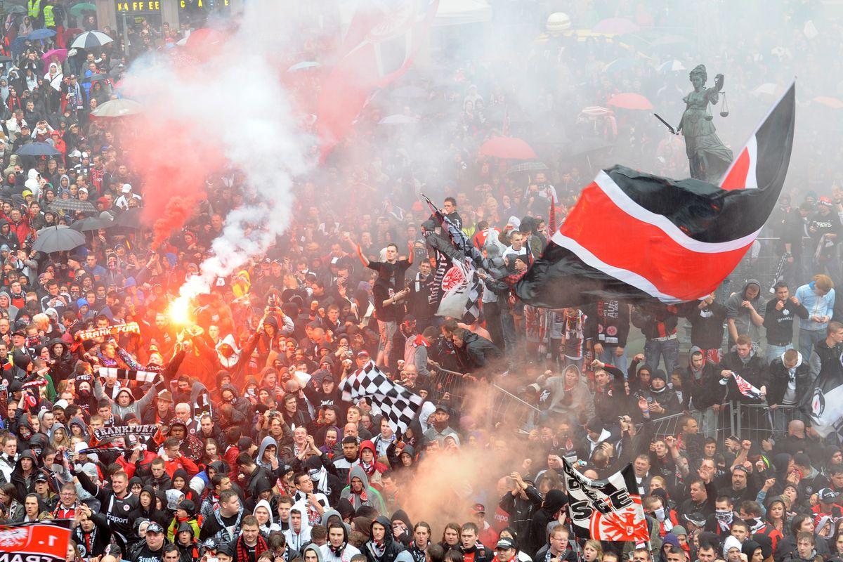 Eintracht Frankfurt Celebrate Promotion To Bundesliga