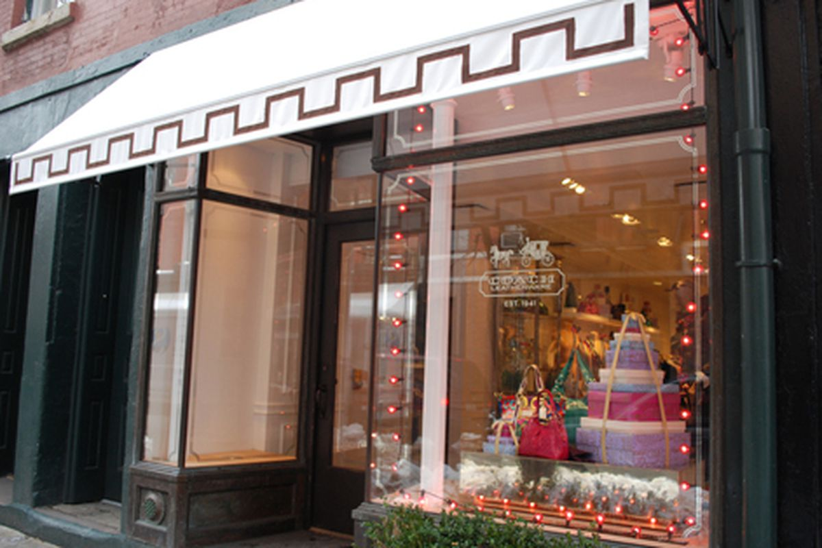 Holiday cheer at Coach on Bleecker