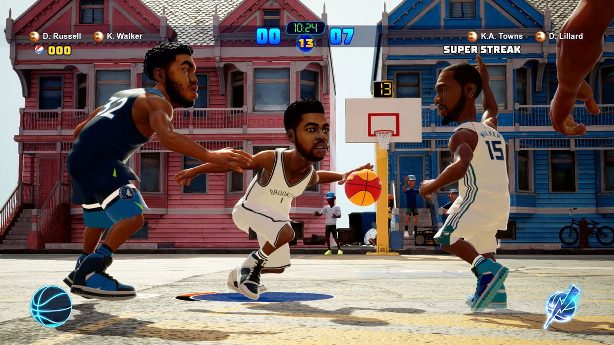 NBA 2K Playgrounds 2 - D'Angelo Russell and Kemba Walker vs. Karl Anthony Towns and Damian Lillard