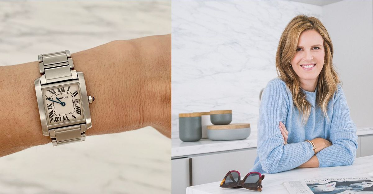 Candace Nelson and her Cartier Tank Francaise watch.