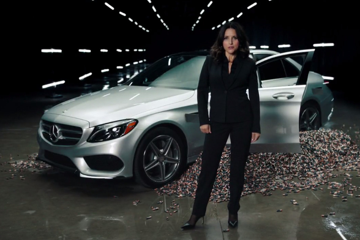 A Fake Mercedes Benz Ad Was One Of The Few Standout Sketches From This Past Weekend S Saay Night Live Julia Louis Dreyfus Star And Some High End