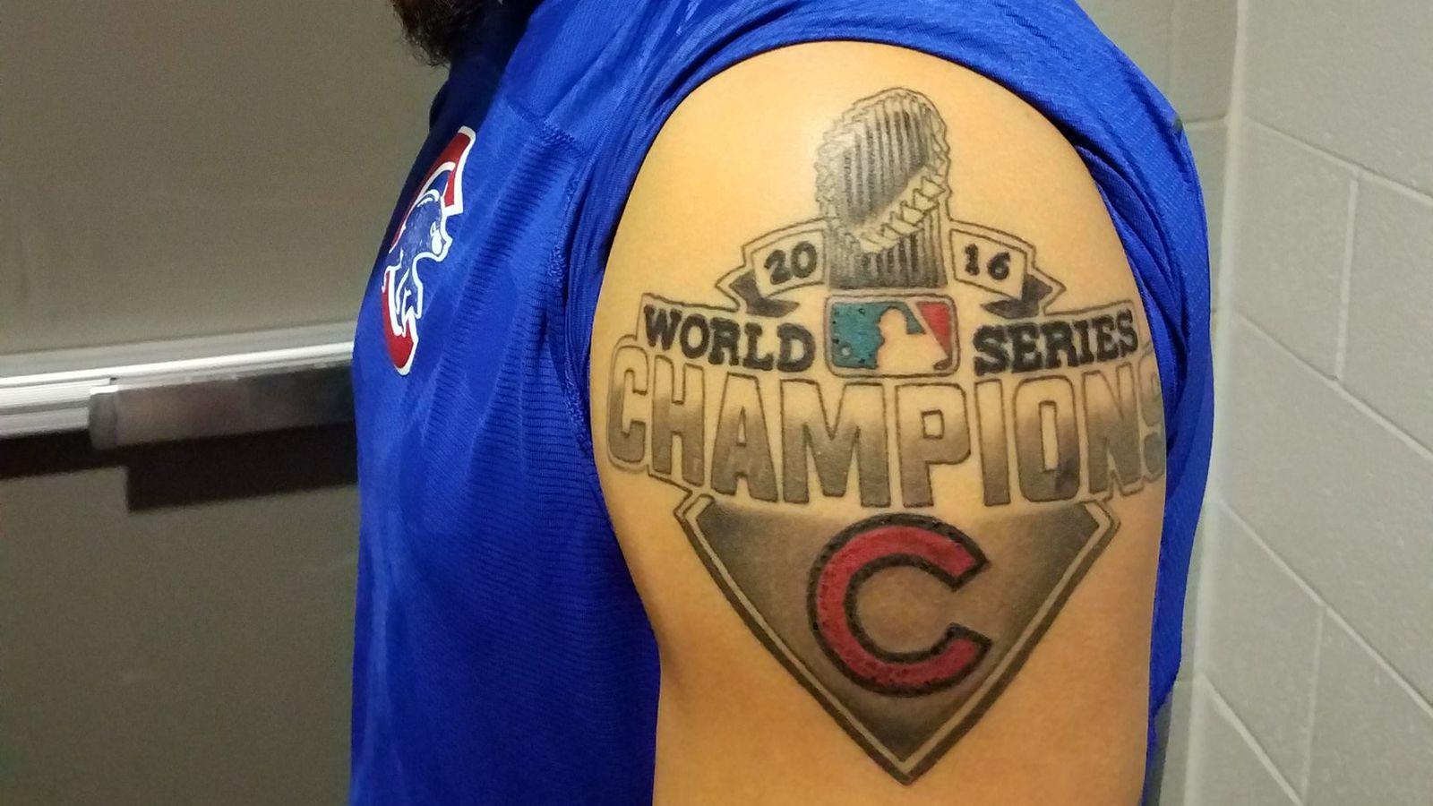 Cubs Javier Baez Got A Sweet looking World Series Tattoo