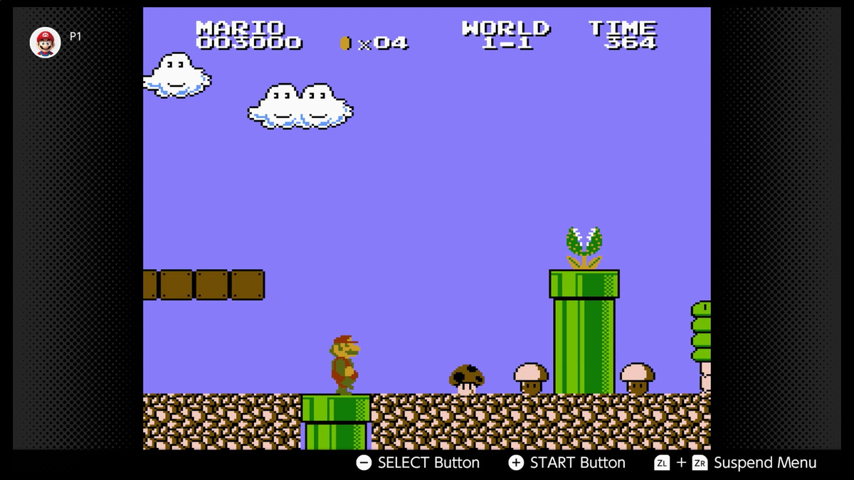 Mario appears in a screenshot from World 1-1 of Super Mario Bros. The Lost Levels on Nintendo Switch