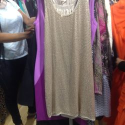 Sequined dress, $150