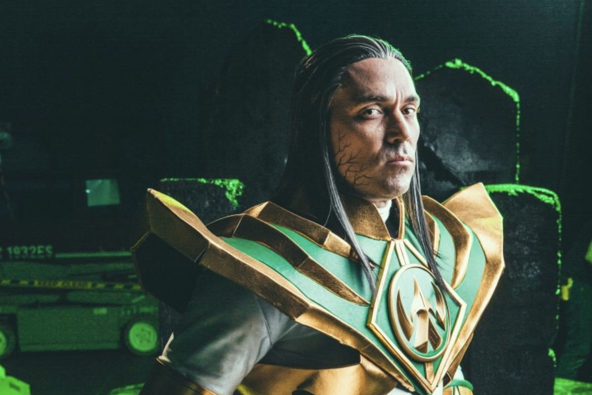 Jason David Frank poses as Lord Drakkon for a YouTube video promoting the character.