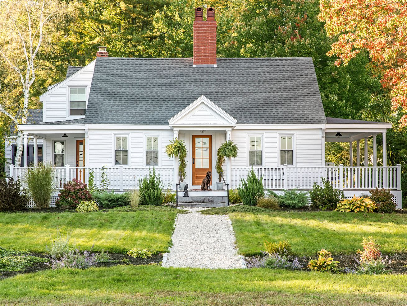 a Cape Cod-style remodel in Cumberland Foreside, ME