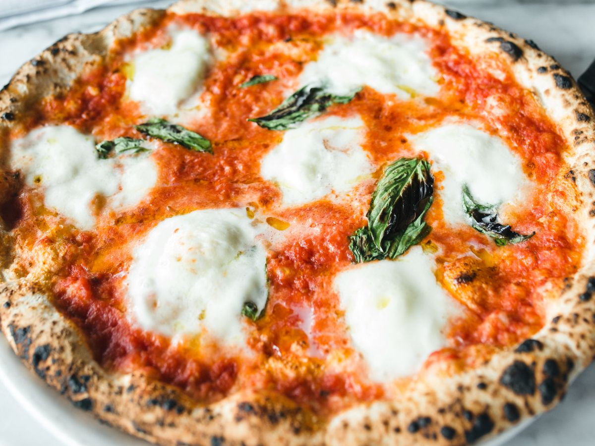 A margherita pizza.