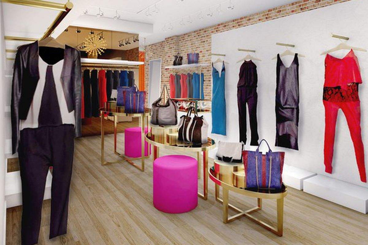"""Rendering via <a href=""""http://www.wwd.com/retail-news/specialty-stores/ramy-brook-to-open-first-store-7830550"""">WWD</a>"""