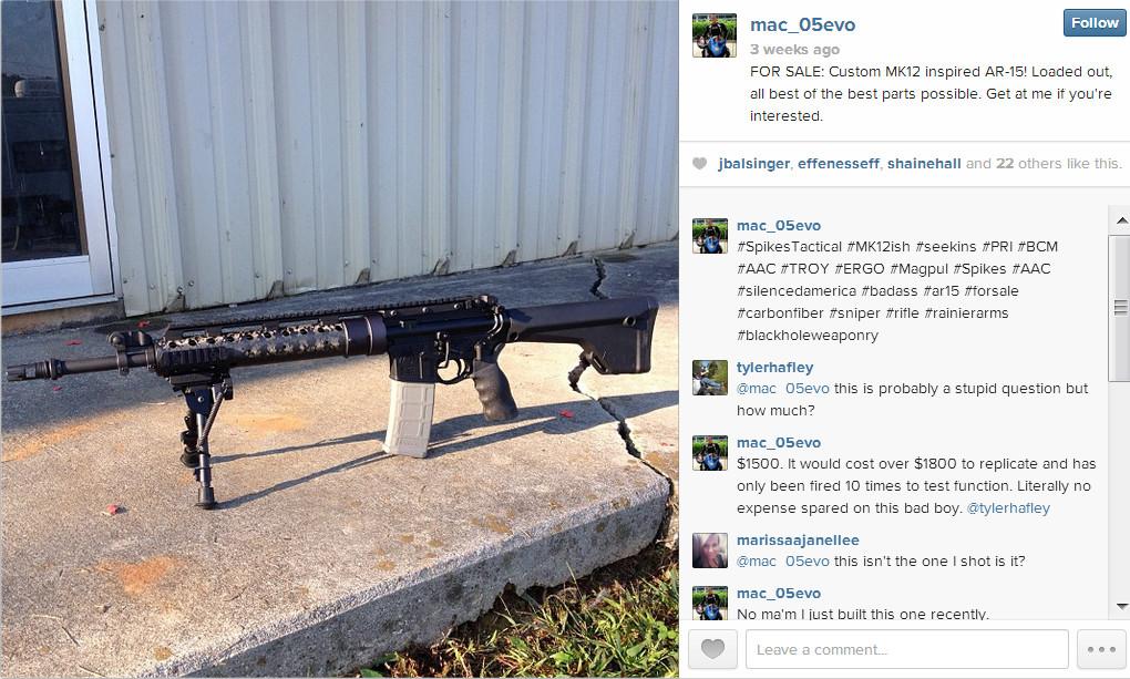 instagram gun for sale