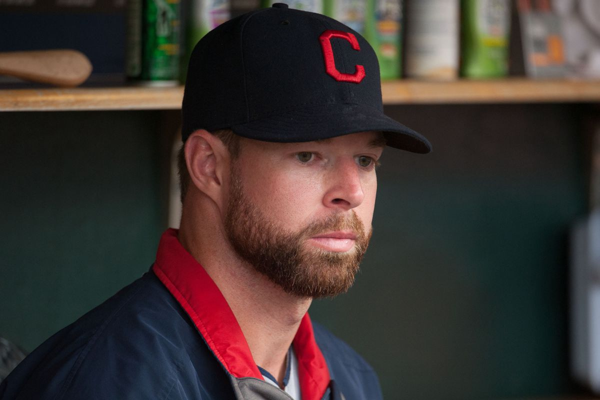 Here is Kluber, overcome with emotion after winning this honor. - PHOTO