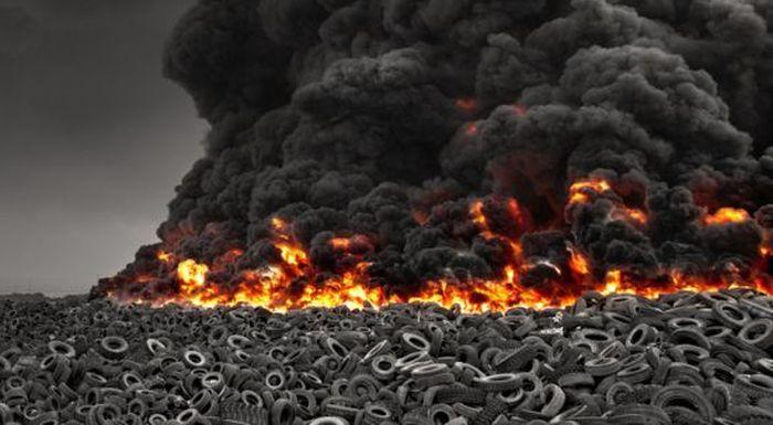 Tyre fire