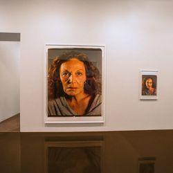 A raw image by photorealist artist Chuck Close (2011).