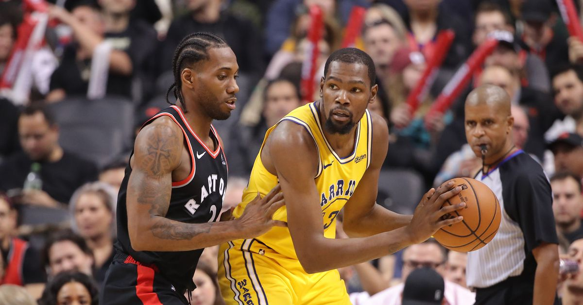 e82ee18490d Kevin Durant and Kawhi Leonard going one-on-one is NBA entertainment at its  best - SBNation.com