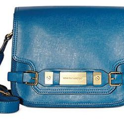 """""""This is large enough to fit all your essentials, but small enough for a nighttime look. I love the cross-body style for its versatility while on the go."""" Vince Camuto cross-body handbag, $110 at Macy's."""