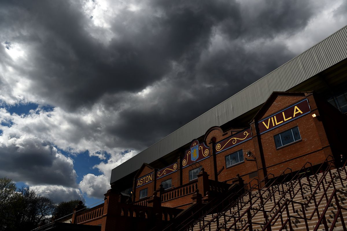 A general view of cloudy skies over the stadium prior to the Barclays Premier League match between Aston Villa and Southampton at Villa Park on April 23, 2016 in Birmingham, United Kingdom.