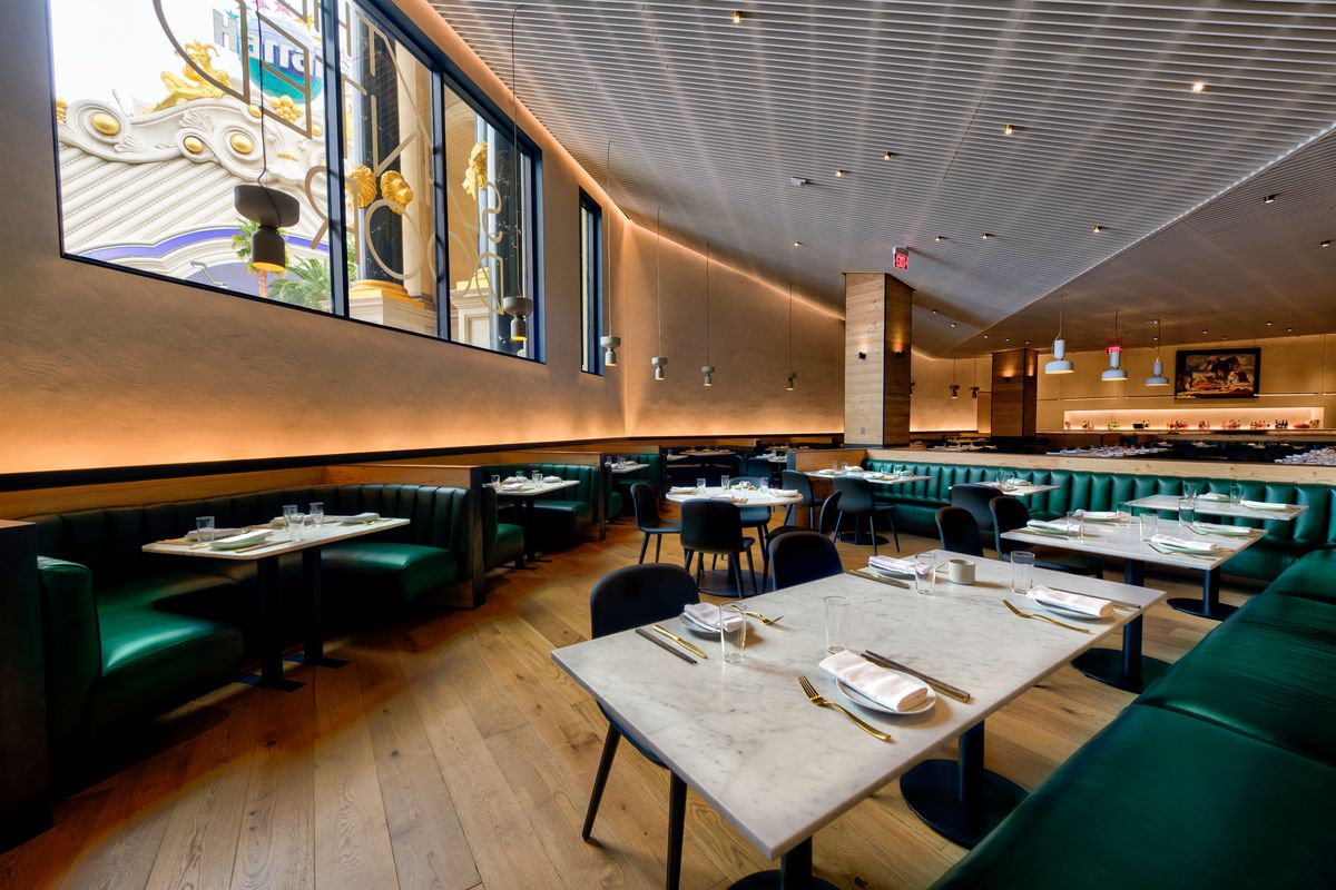The dining room at The Slanted Door