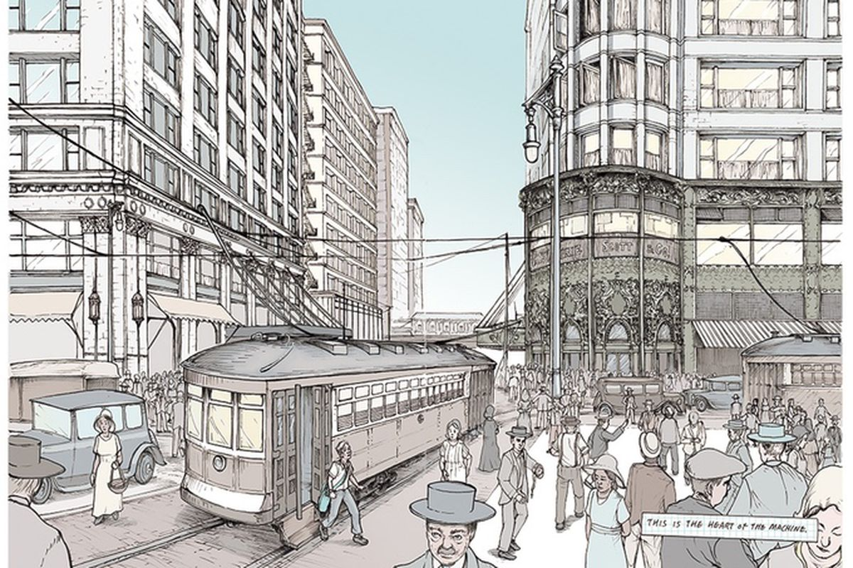 Artists to tell the story of chicago architecture in graphic novel curbed chicago - Fahouse a story telling architecture ...