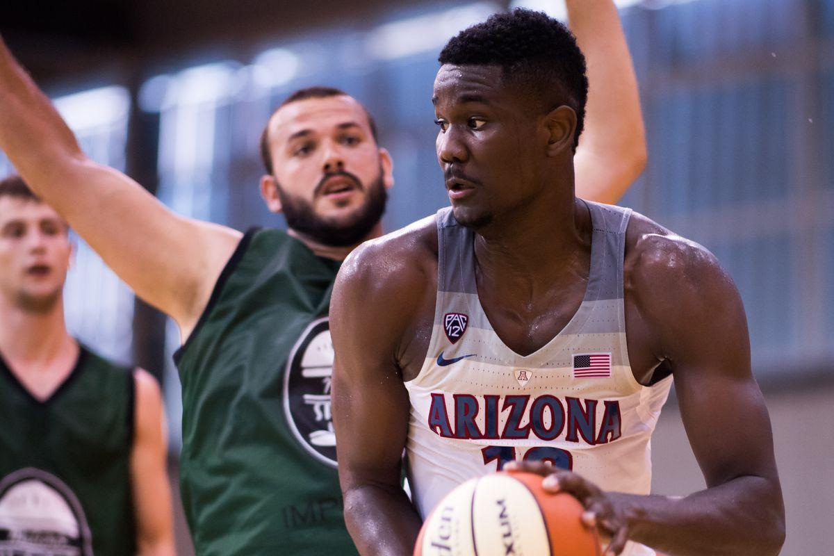 Arizona basketball: Deandre Ayton suffers leg cramp vs ...