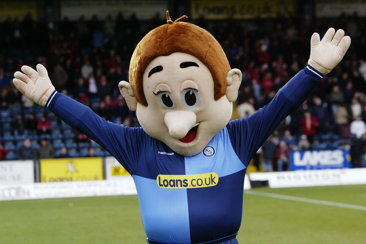 Bodger the Wycombe Wanderers mascot
