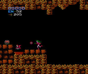 In the original Metroid, players could use a cheat code to put Samus in a one-piece red leotard rather than her full power suit