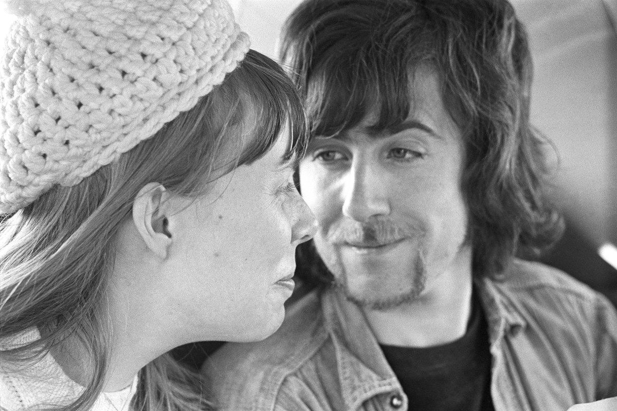"""Joni Mitchell and Graham Nash in a 1969 photo seen in the documentary """"Laurel Canyon."""""""