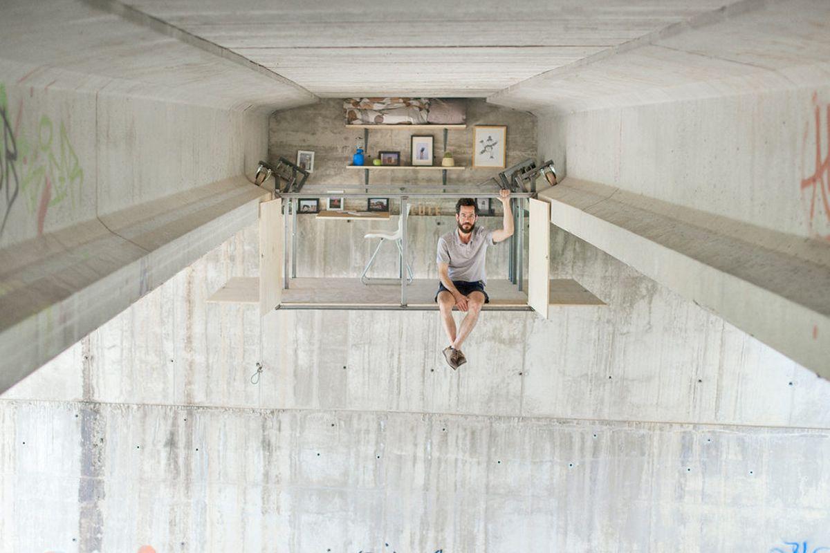 secret studio under bridge