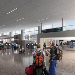 Renderings are released as Salt Lake City International Airport terminal design details are unveiled in Salt Lake City, Tuesday, Sept. 29, 2015.