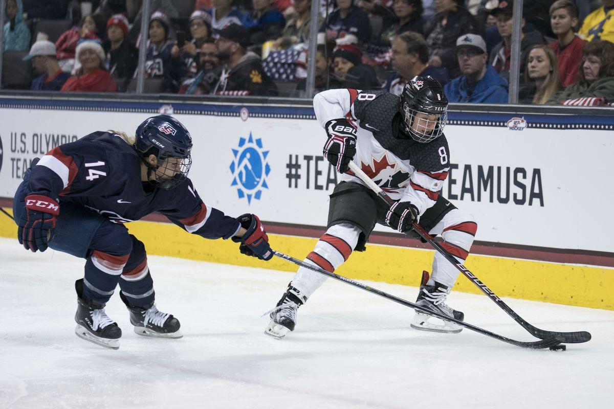 Hockey: International Women's Hockey -Canada at USA