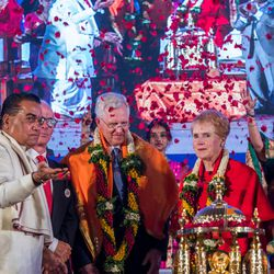 Elder D. Todd Christofferson, a member of the Quorum of Twelve Apostles of The Church of Jesus Christ of Latter-day Saints receives the Philosopher Saint Shri Dnyaneshwara World Peace Prize-2017, during an award ceremony at the MIT World Peace University  in Pune, Maharashtra, India on August 14, 2017.