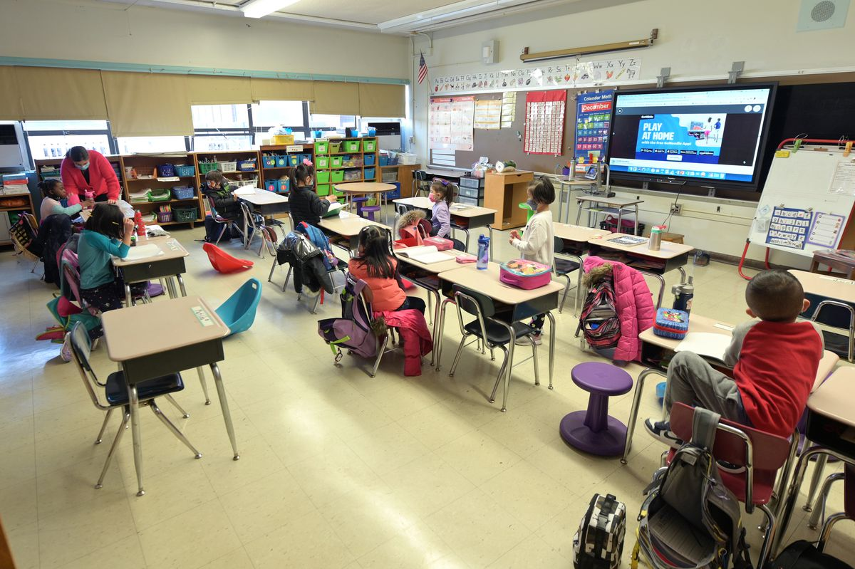 Students in New York City went back to school Dec. 7 after a three-week shutdown.