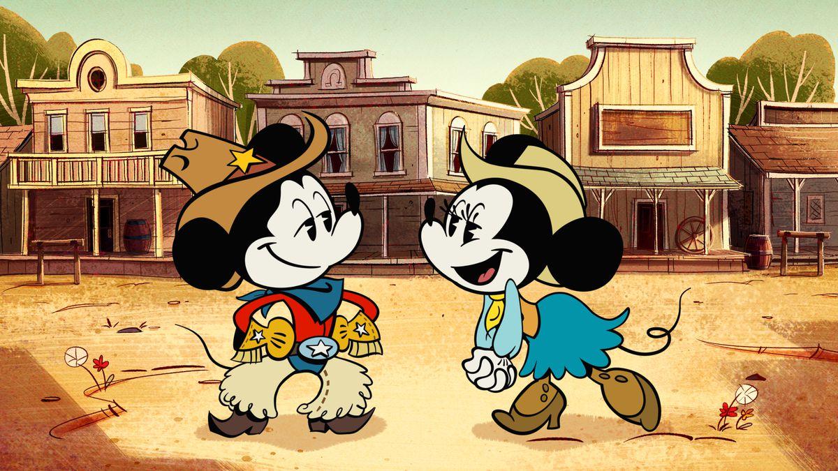 minnie and mickey as cowboys
