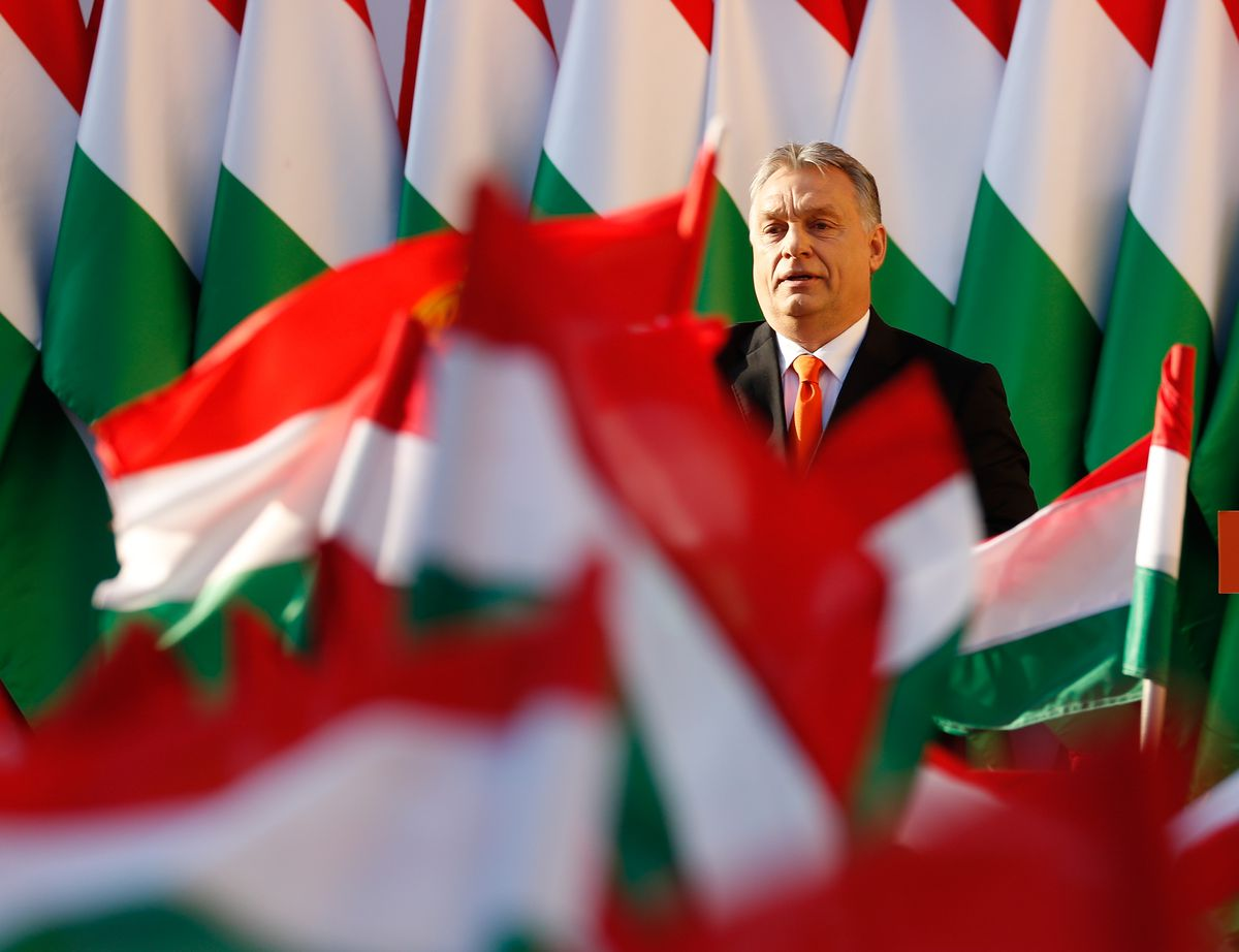 Hungarian Prime Minister Viktor Orban at a 2018 campaign rally.