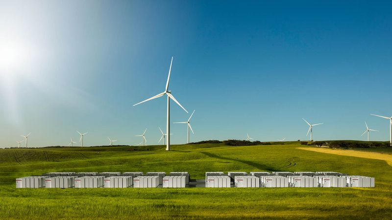 Wind+storage in Australia.