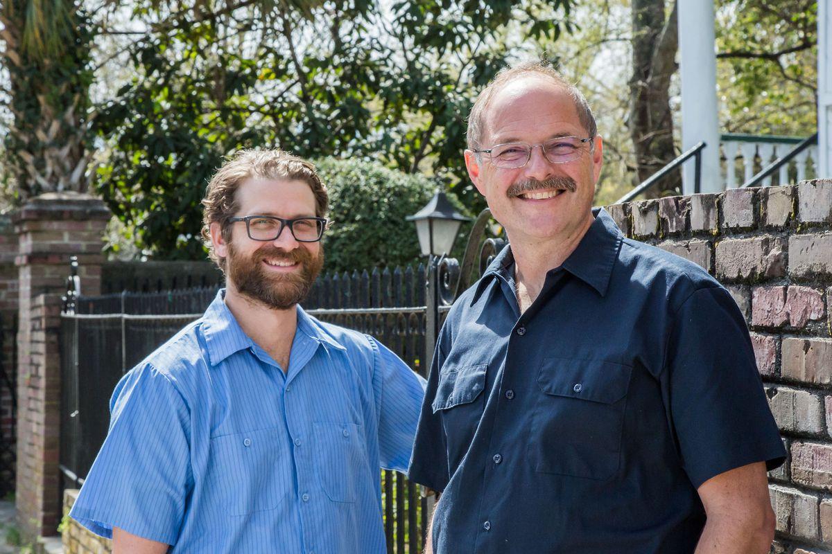 Chicken maestros Dave Uecke and Robert Stehling.
