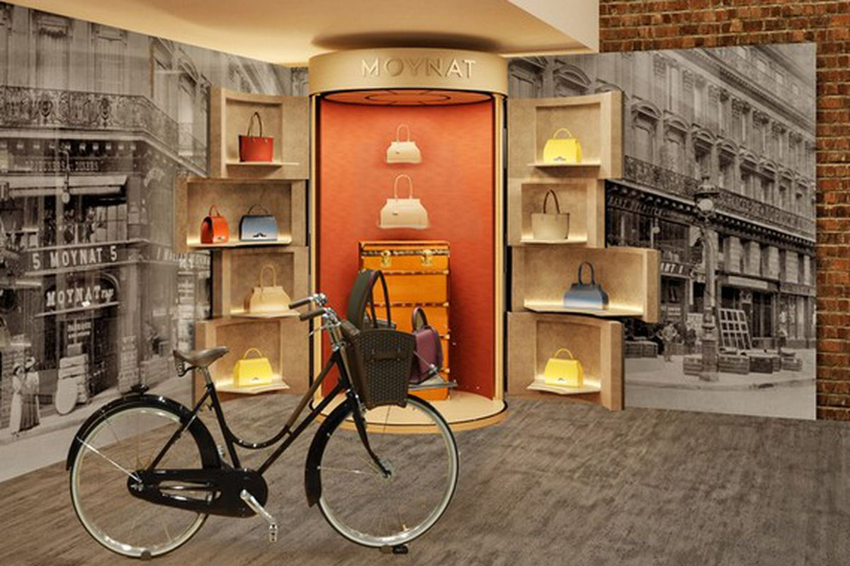"""Rendering via <a href=""""http://www.wwd.com/retail-news/designer-luxury/moynat-pops-up-at-dover-street-market-in-new-york-7595324?navSection=issues"""">WWD</a>"""