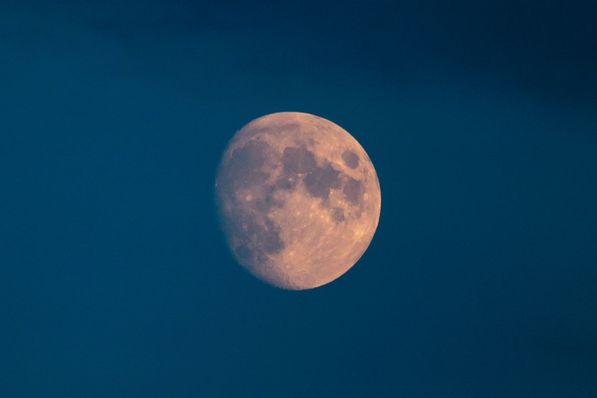 The Moon In A Waxing Gibbous Phase