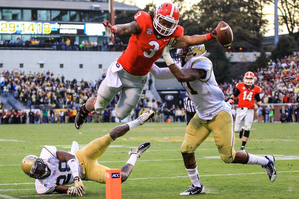 Georgia vs. Georgia Tech final score: Bulldogs cap comeback with 41-34 overtime win - SBNation.com