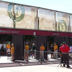 The main entrance at Phoenix Muni -