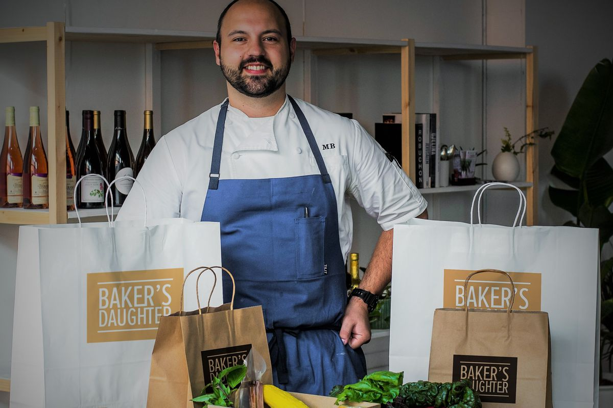 Chef Matt Baker will sell pantry items, a la carte dishes, and a carryout prix fixe at Baker's Daughter