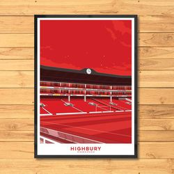 """<a class=""""ql-link"""" href=""""https://www.etsy.com/listing/899162386/arsenal-highbury-stadium-print-arsenal?ga_order=most_relevant&ga_search_type=all&ga_view_type=gallery&ga_search_query=highbury+print&ref=sr_gallery-1-31&frs=1"""" target=""""_blank"""">Red Highbury print</a>. Different than the other Highbury poster, but still awesome. For the Gooner who knows that North London will always be red."""