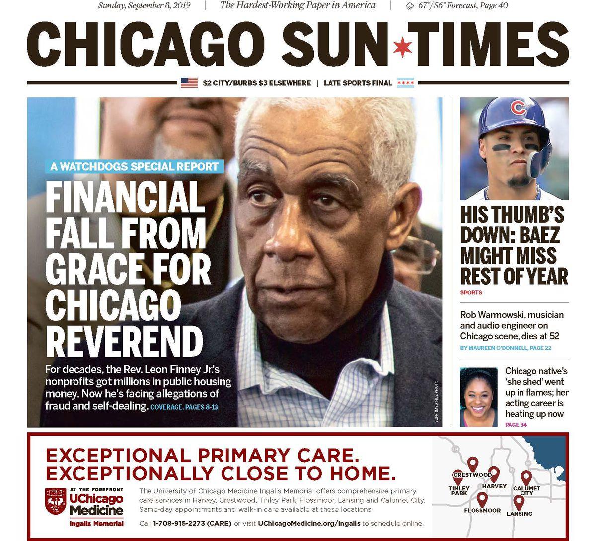 The Sun-Times' Leon Finney Jr. investigation, published Sept. 8.