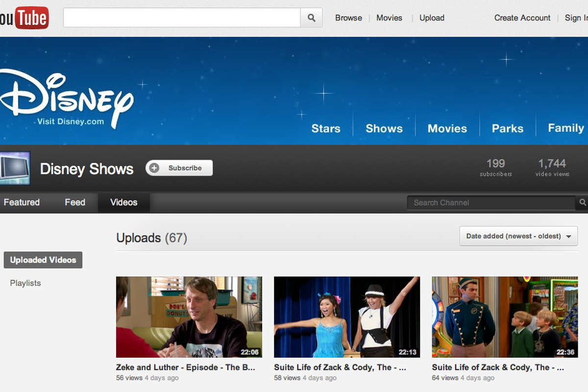 Disney Channel Tv Shows Appear On Youtube The Verge
