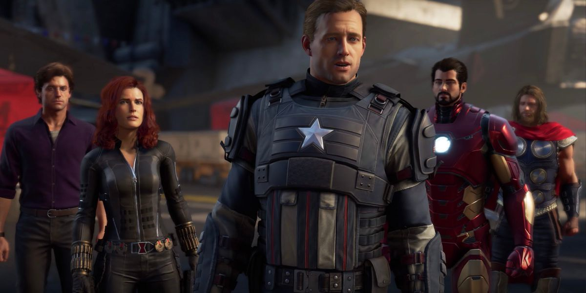 The cast of superheroes in Marvel's Avengers includes Iron Man and Captain America