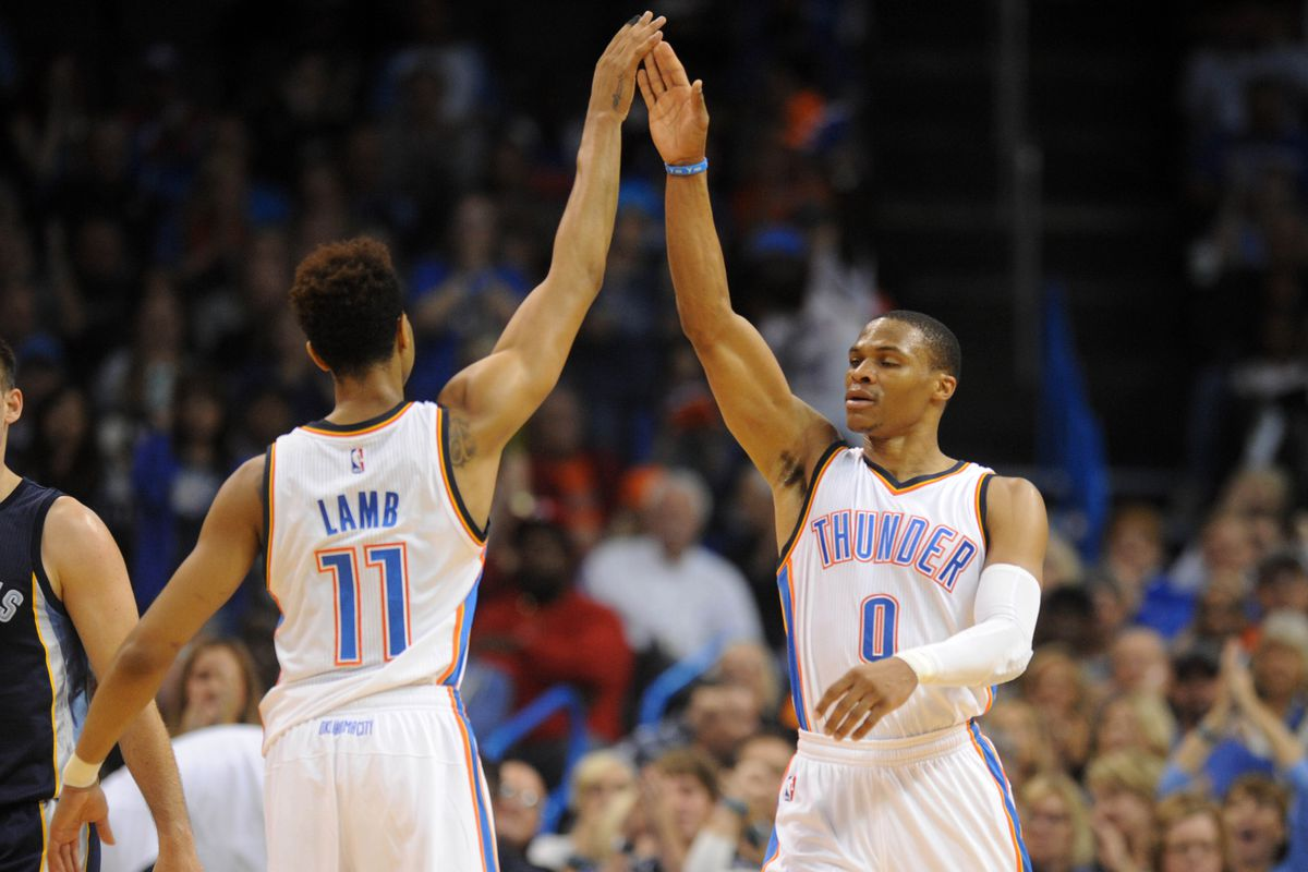 Russ doesn't have to see your hand to know where it is. Skills.