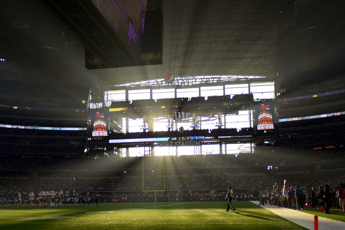 The Washington Redskins play the Dallas Cowboys