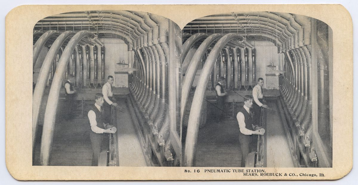 Pneumatic tubes at Sears