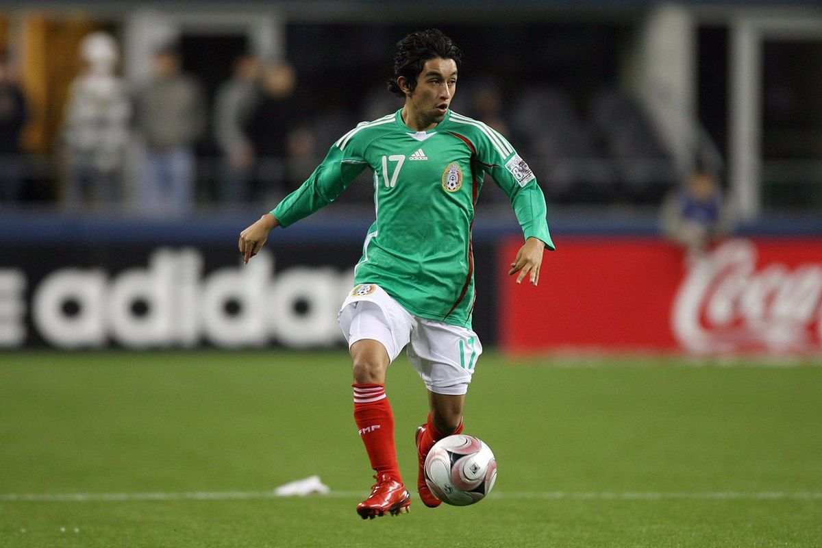Christian 'Hobbit' Bermudez while playing for the Mexican national team in a friendly against China. Bermudez officially moved from Atlante to Club America on Wednesday.