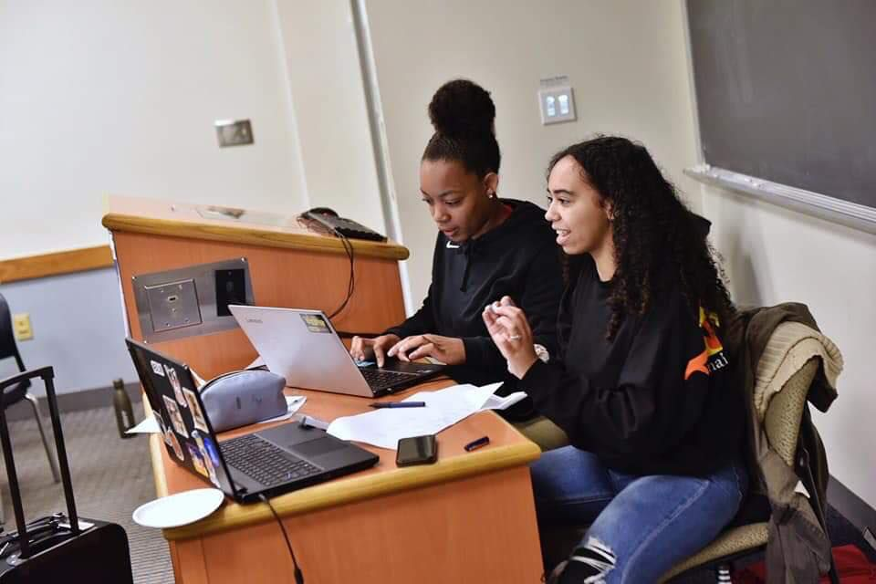 Urban Debate National Champions and Lane Tech College Prep High School students Aysia Grey (left) and Ariana Collazo (right).   Provided